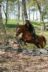 cross-country jumping at Locust Hill Farm